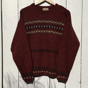 Vintage St. John's Bay Maroon Knitted Sweater